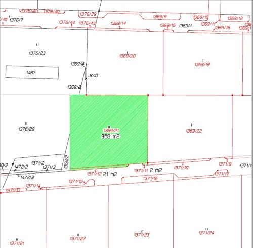 Stavební pozemek 1369/21 v k.ú. Radomyšl