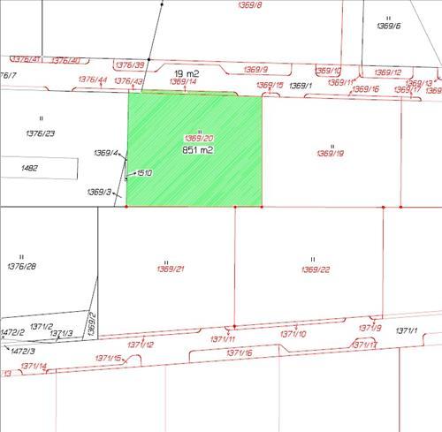 Stavební pozemek 1369/20 v k.ú. Radomyšl