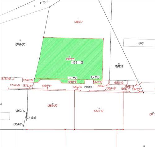 Stavební pozemek 1369/8 v k.ú. Radomyšl