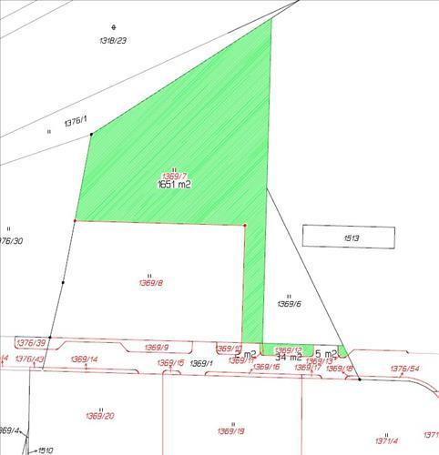 Stavební pozemek 1369/7 v k.ú. Radomyšl